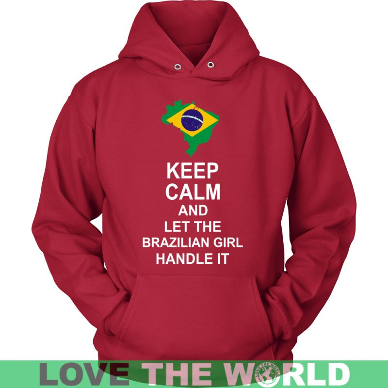 Keep Calm Brazilan Girl 3 Unisex Hoodie / Black S T-Shirts