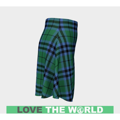 Image of Tartan Skirt - Keith Ancient Women Flared Skirt A9 |Clothing| 1sttheworld
