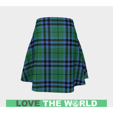 Tartan Skirt - Keith Ancient Women Flared Skirt A9 |Clothing| 1sttheworld