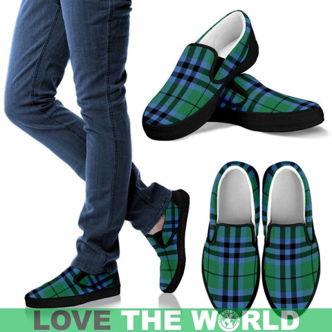 Keith Ancient Tartan Slip Ons Womens Slip Ons - White / Us6 (Eu36)