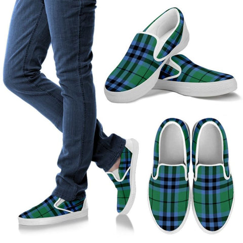 Image of Keith Ancient Tartan Slip Ons Womens Slip Ons - White / Us6 (Eu36)
