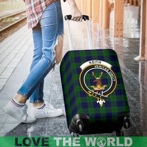 Image of Keith Tartan Clan Badge Luggage Cover Hj4 | Love The World
