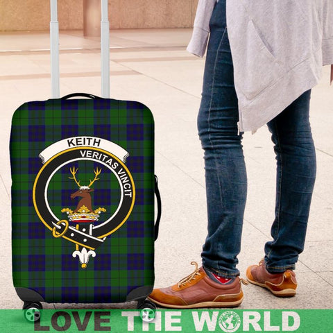 Keith Tartan Clan Badge Luggage Cover Hj4 | Love The World