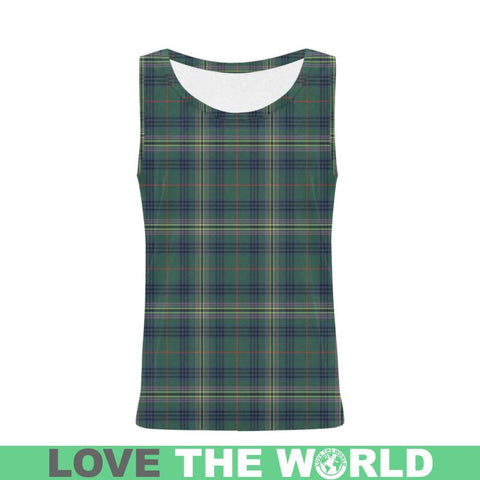 Kennedy Modern Tartan All Over Print Tank Top Nl25 Xs / Men Tops