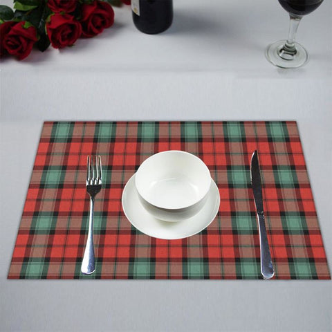 Kerr Ancient Tartan Placemat 14 Inch X 19 (Six Pieces) - Tk1 Placemats
