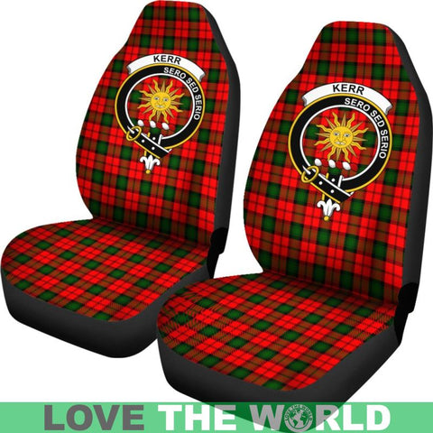 Kerr Clan Badges Tartan Car Seat Cover Ha5