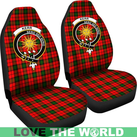 Image of Kerr Clan Badges Tartan Car Seat Cover Ha5
