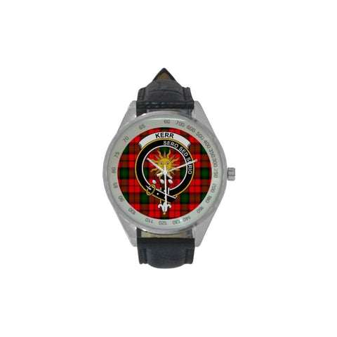 Image of Kerr Modern Tartan Leather Strap Analog Watch - Tk1 Watches