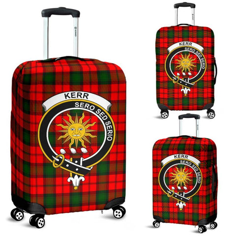 Kerr Tartan Clan Badge Luggage Cover Hj4 | Love The World