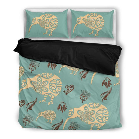 Kiwi Bedding Set 011 Bedding Set - Black / Twin Sets