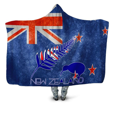 Kiwi New Zealand Flag Hooded Blanket - Tm Blankets
