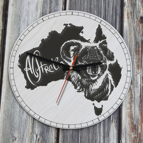 Australia Koala Map Wooden Wall Clock NN9