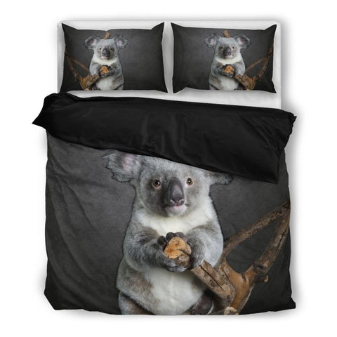Koala Bedding Set Hm1 Bedding Set - Black / Twin Sets