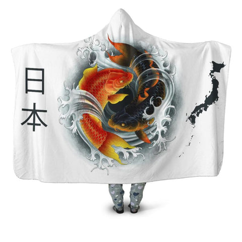 Koi Fish 01 Hooded Blanket - Bn Blankets