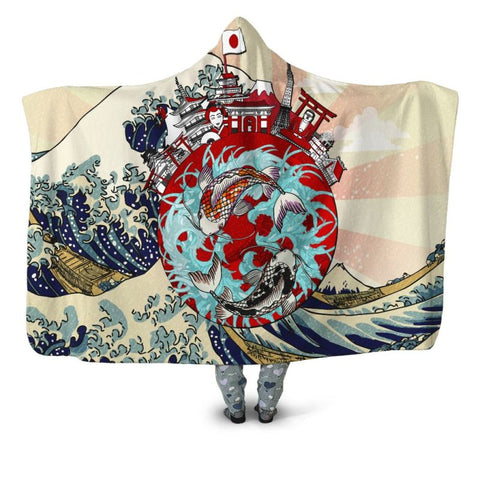 Koi Fish 03 Hooded Blanket - Bn Blankets