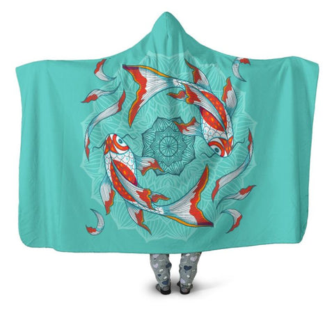 Koi Fish 04 Hooded Blanket - Bn Blankets
