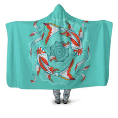 KOI FISH 04 HOODED BLANKET - BN