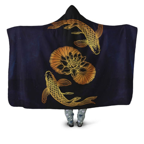 Koi Fish 05 Hooded Blanket - Bn Blankets
