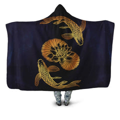 KOI FISH 05 HOODED BLANKET - BN