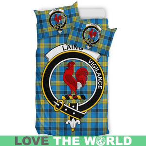 Laing Clan Badge Tartan Bedding Set K7