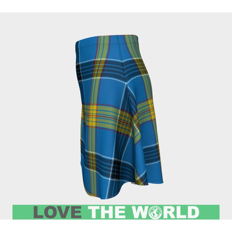 Tartan Skirt - Laing Women Flared Skirt A9 |Clothing| 1sttheworld