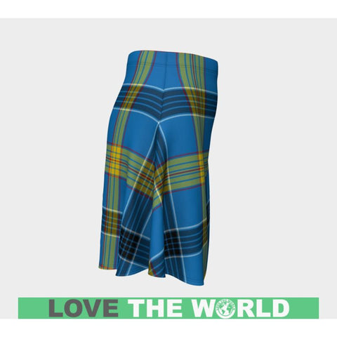 Image of Tartan Skirt - Laing Women Flared Skirt A9 |Clothing| 1sttheworld