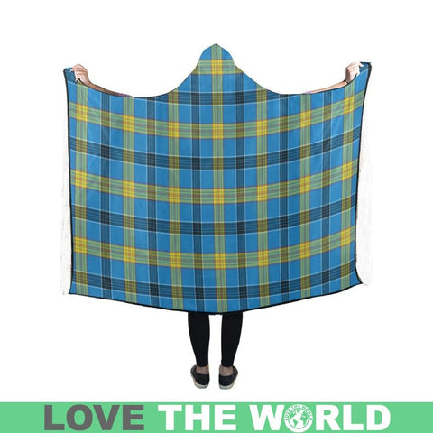 Laing Tartan Hooded Blanket - Tn One Size / 60X50 Blankets