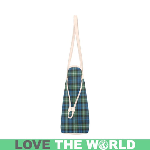 Image of Lamont Ancient Tartan Clover Canvas Tote Bag Th1 Bags