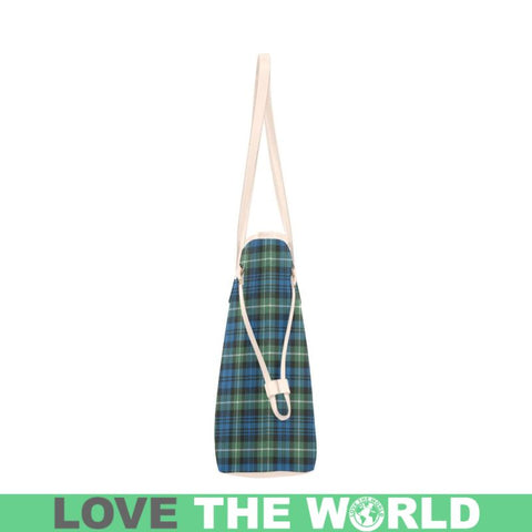 Lamont Ancient Tartan Clover Canvas Tote Bag Th1 Bags