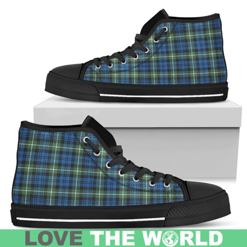Lamont Ancient Tartan Canvas Shoes Mens - Black 1 / Us5 (Eu38) Hightop