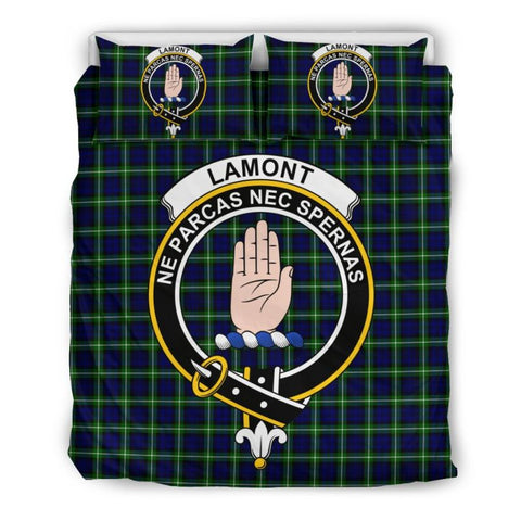 Lamont Modern Clan Badge Tartan Bedding Set Ha9 Bedding Set - Black Black / Queen/full Sets