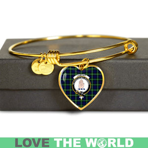 Lamont Modern Tartan Golden Bangle - BN01