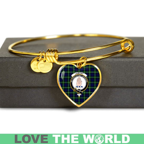 Lamont Modern Tartan Golden Bangle - Tm Adjustable Bangle Jewelries