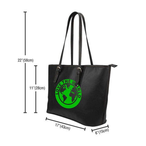 Celtic Thistle Leather Tote Bag A3