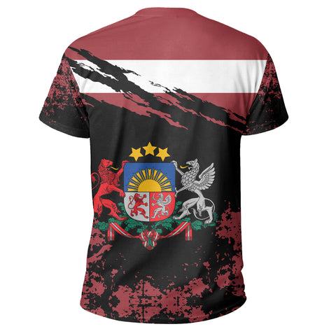 Latvia T Shirt Customized K5