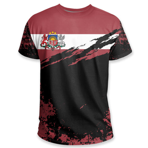 Image of Latvia T Shirt Customized K5