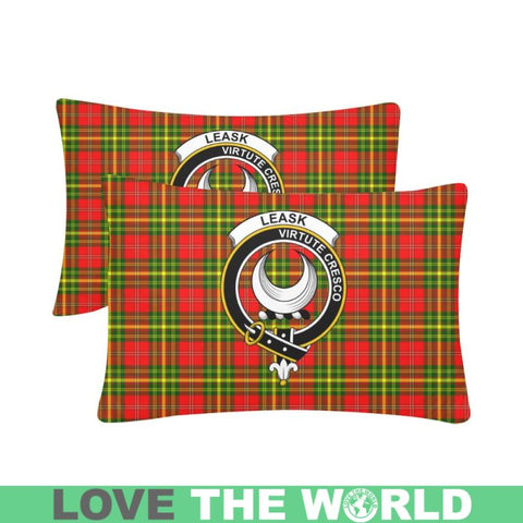 Image of Leask Tartan Clan Badge Rectangle Pillow Hj4 One Size / Leask Custom Zippered Pillow Cases