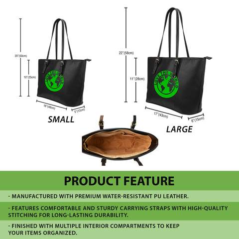 Shamrock Lightly Large Leather Tote Bag 02