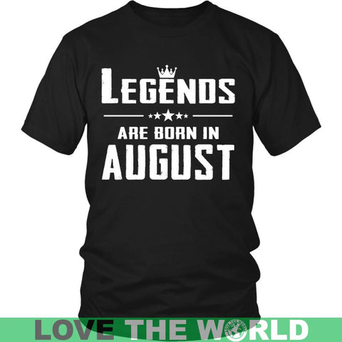 Image of Legends Are Born In August District Unisex Shirt / Royal Blue S T-Shirts