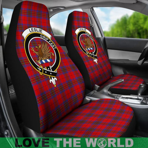 Leslie Clan Badges Tartan Car Seat Cover Ha5