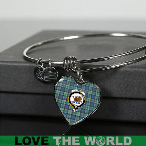 Image of Leslie Hunting Ancient Tartan Silver Bangle - M8 Luxury Bangle (Silver) Jewelries