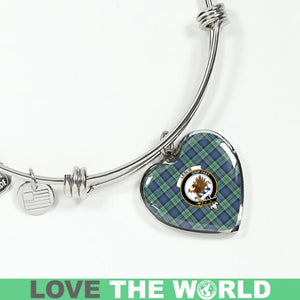 Leslie Hunting Ancient Tartan Silver Bangle - BN