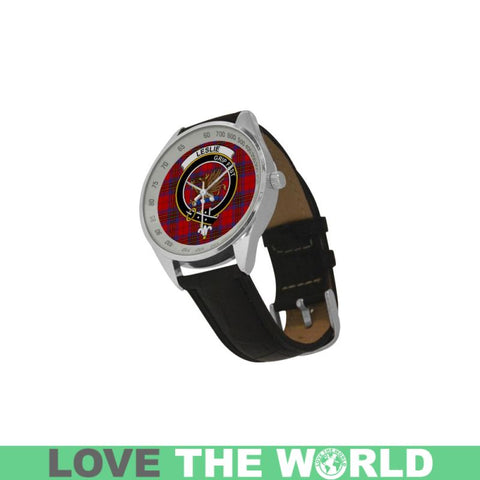 Image of Leslie Modern Tartan Leather Strap Analog Watch - Tk1 Watches