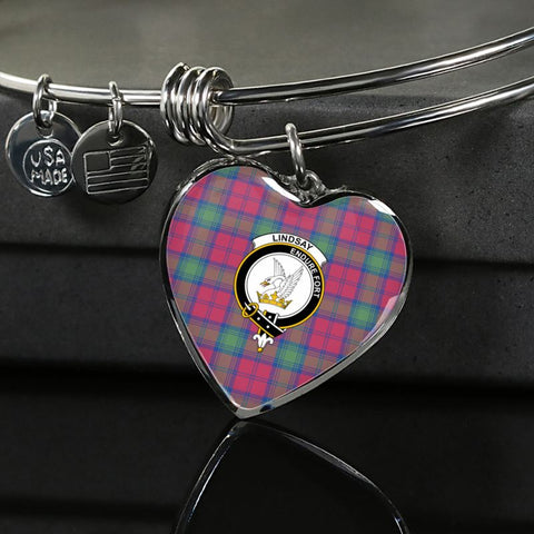 Lindsay Ancient Tartan Silver Bangle - M8 Luxury Bangle (Silver) Jewelries