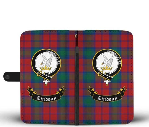 Tartan Wallet Case - Lindsay Clan | Scottish Wallet Case | 1sttheworld
