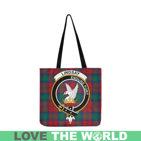 Lindsay Modern Clan Badge Tartan Reusable Shopping Bag - Hb1 Bags