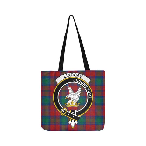 Image of Lindsay Modern Clan Badge Tartan Reusable Shopping Bag - Hb1 Bags