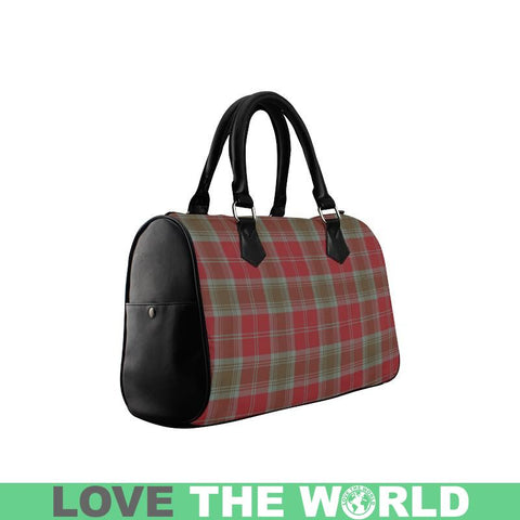 Lindsay Weathered Tartan Boston Handbag Hj4 Handbags