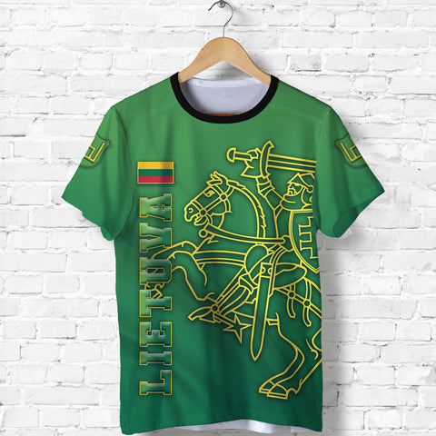Image of Lithuania Vytis Columns of Gediminas T Shirt K8