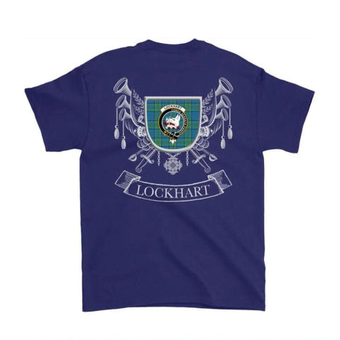 Lockhart Tartan Clan Badge T-Shirt Hj4 T-Shirts